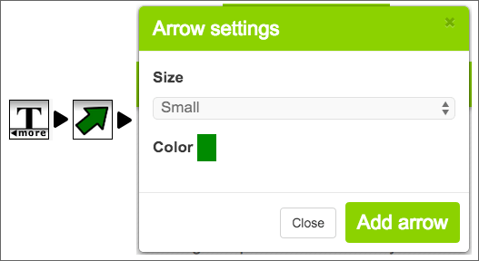 How to access the arrow icon